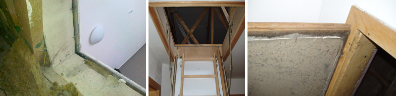 Průlez střechou bez instalace parozábrany